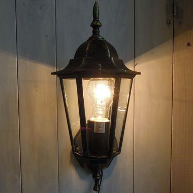 壁付照明 アンティークブラケットランタン 「ベーシック」 1灯式(ブロンズ&ブラックアイアン)