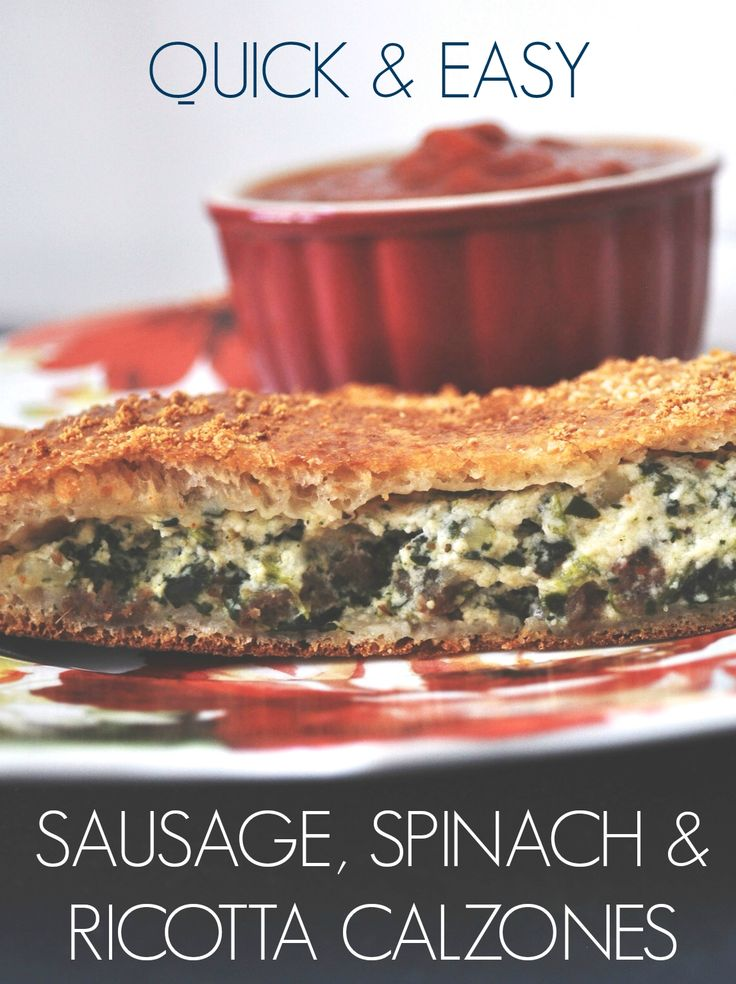 Easy Sausage, Spinach & Ricotta Calzones #JDCrumbles