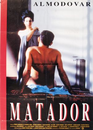 Pedro Almodovar Movie Posters | Matador, Original Vintage Film Poster | Original Poster