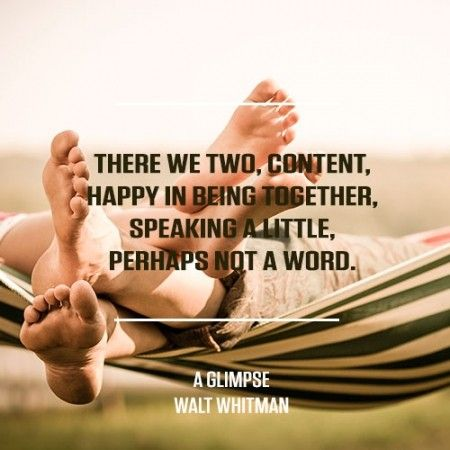 Taken from A Glimpse by Walt Whitman. For more great poems visit RedOnline.co.uk