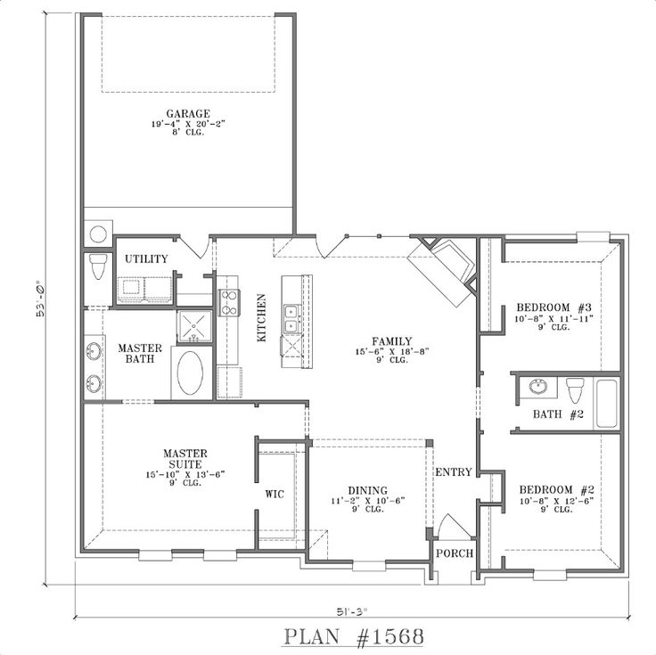 Open floor plans open floor plan houses pinterest 3 bedroom open floor plan