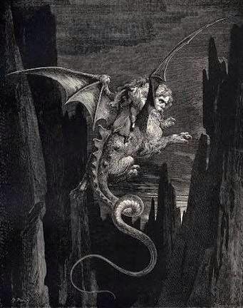 El octavo circulo es custodiado por Gerión y castiga a los pecadores que usaron la malicia.