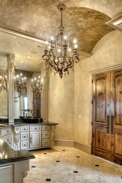 56 best oldworld tuscan mediterranean images on pinterest for Best paint finish for ceilings