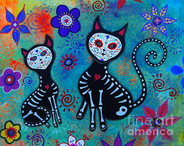 FRIDA, FRIDA KAHLO, DAY OF THE DEAD, DIA DE LOS MUERTOS, SKULL, SKELETON, FOLK ART, MEXICAN, MEXICAN PAINTINGS, DOG PAINTINGS, FLORALS, FLOWERS, WHIMSICAL, PRISTINE CARTERA-TURKUS, PRISARTS, OUTSIDER ART, BRUT ART, FLORALS, CAT, GATO, EL GATO, HELLO KITTY, PUSA, MEOW