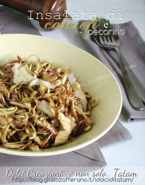Insalata di carciofi e pecorino   ricetta veloce   ricetta light