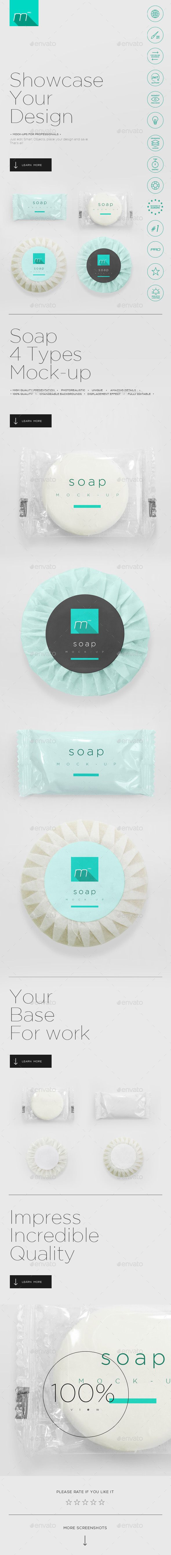 Hotel Soap Mockup — Photoshop PSD #up #mock • Available here → https://graphicriver.net/item/hotel-soap-mockup/14295623?ref=pxcr