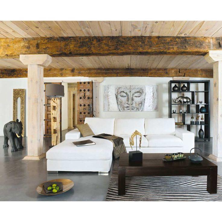 canap233 dangle 5 places en cuir blanc new york maisons