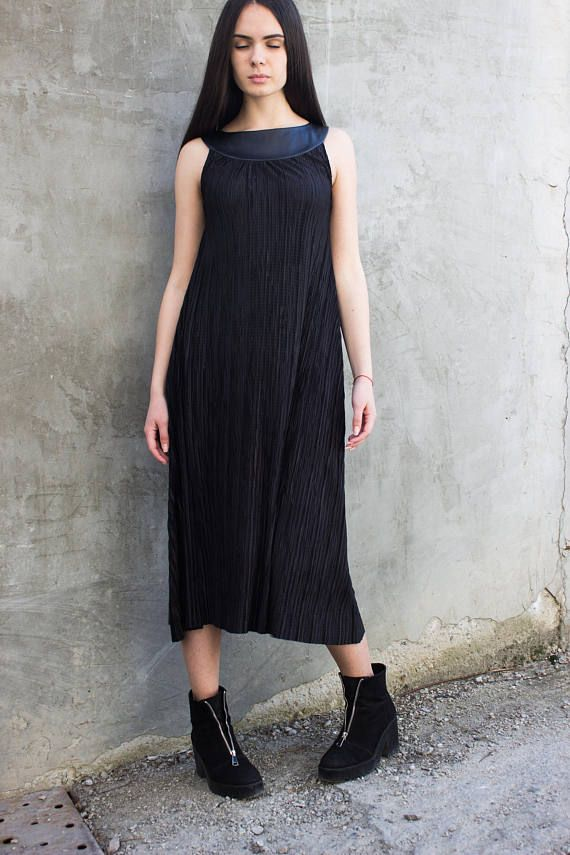 Black dress/ Loose summer dress/Black tunic/Extravagant dress/Formal dress/Party dress/Plus size black dress/Tunic dress/Wedding dress/D0050