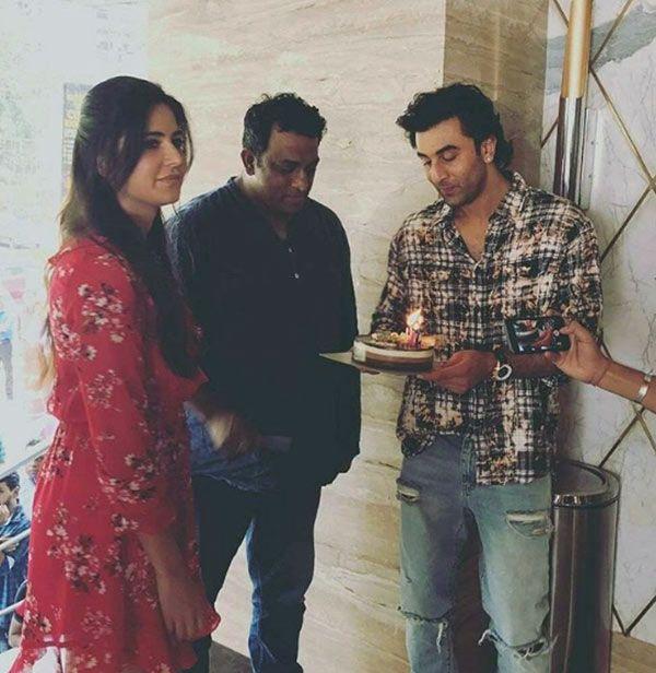Katrina Kaif looks uncomfortable in Ranbir Kapoor's presence as they ring in Anurag Basu's birthday #FansnStars