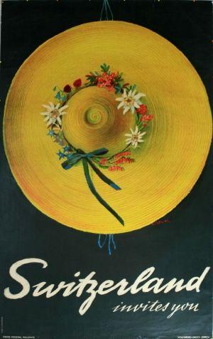 Switzerland poster 1937: