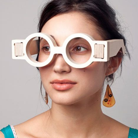 London architect and designer Lynton Pepper from 00:/ has designed a pair of customisable, self-assembly architect's glasses that are 'printed' from 18mm plywood utilising a CNC milling machine.