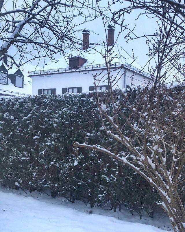 Gestern gab es doch glatt mal wieder einen kurzen Anfall von Winter...   #latergram #winter #mingaoida #münchen