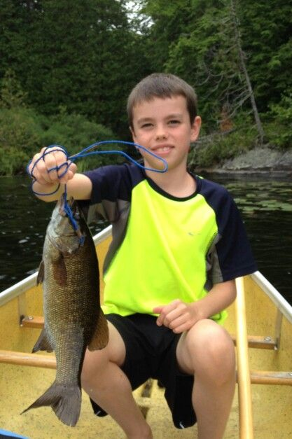 Just like Aiden's dad.   A bass on otter lake while staying at Sunny Point Resort.
