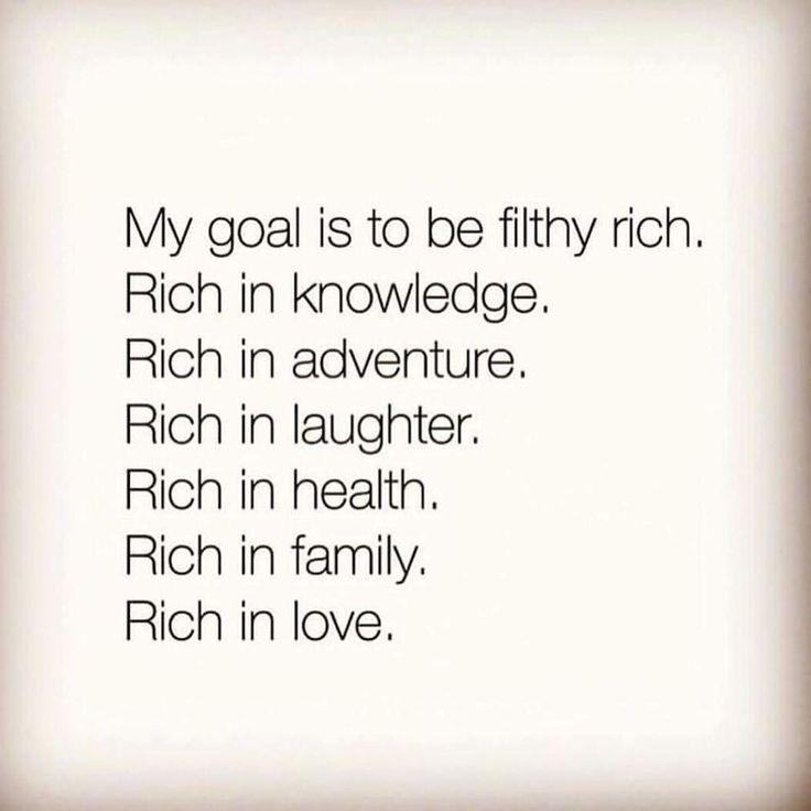 Life's goals...