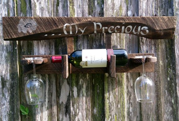 My Precious  rustic wine bottle and wine by theLambandtheBear