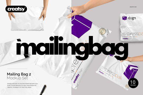 Download Mailing Bag 2 Mockup Set Mockup Business Card Logo Mockup Free Psd