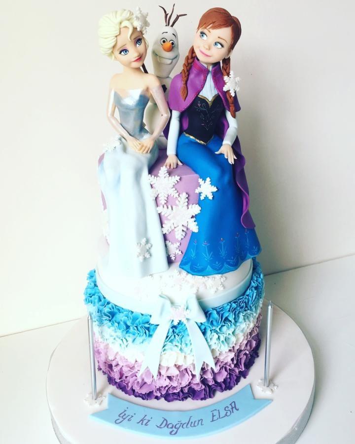 elsa anna olaf frozen cake by Tuba Fırat