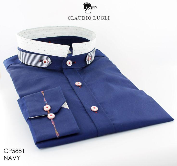 Nero Collar ~ Claudio Lugli Men's Shirt
