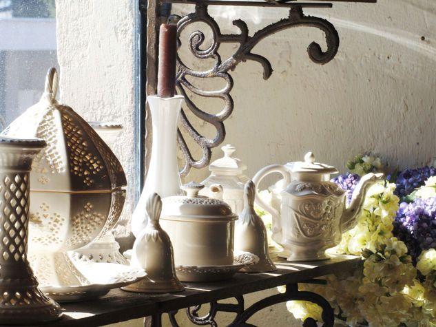 Wooden veranda creativo : Riciclo creativo: piatti e brocche portacandele A. Indoor & Outdoor ...