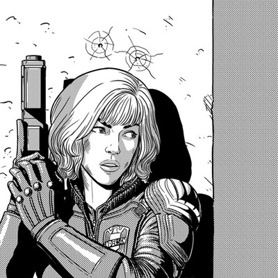 Love Jame McKelive's style (may have mentioned this before). And as someone who saw Dredd I now love Judge Anderson. So I'm loosing my shit over this.