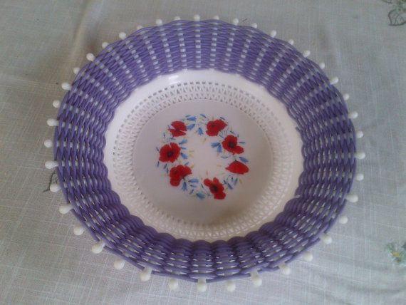 1950s Retro/Vintage 'Smit & Co' Woven Purple by Alisvintagemayhem