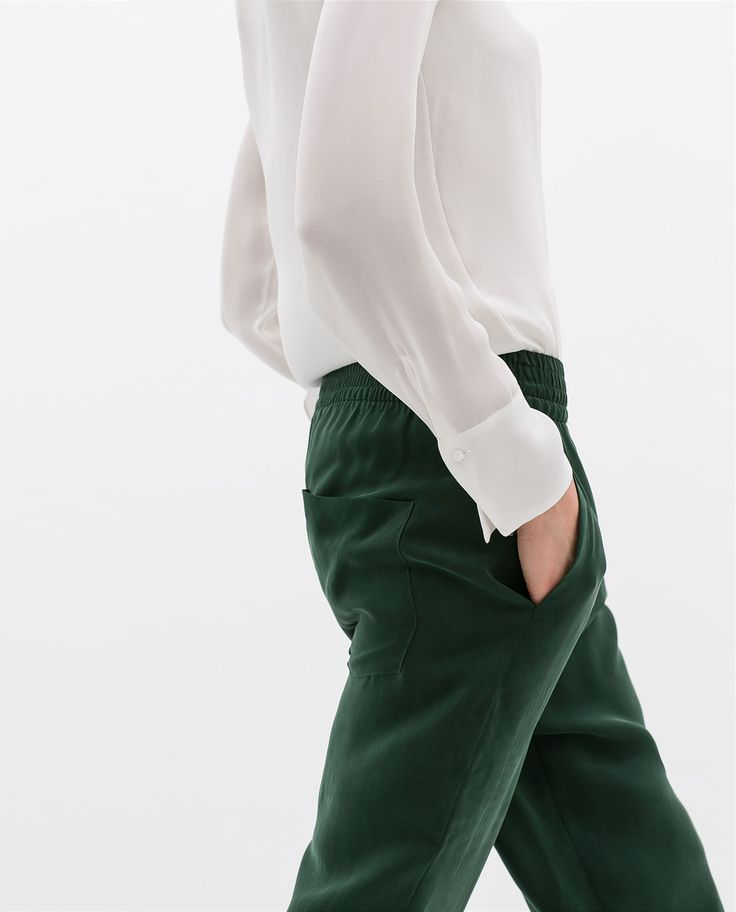 Image 6 of ELASTIC WAISTED TROUSERS from Zara