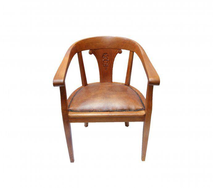 Armlehnstuhl   Eiche   Art Deco   Antiquitäten   Antik   Möbel
