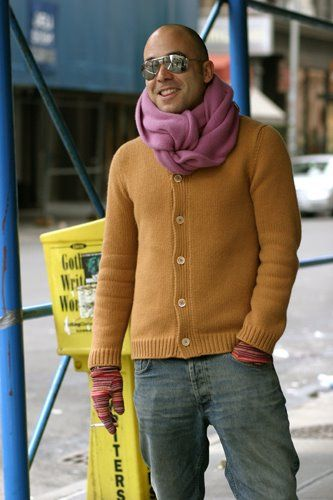 On The Street Purple Scarf 6th Ave The Sartorialist