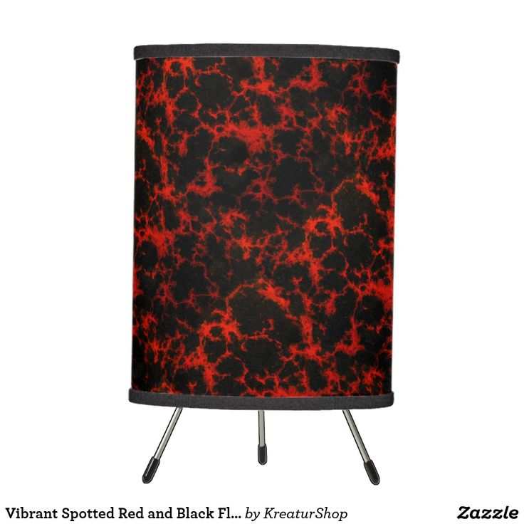 Vibrant Spotted Red and Black Flames