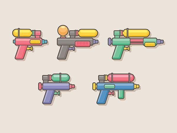 water guns, designed by Sunbzy