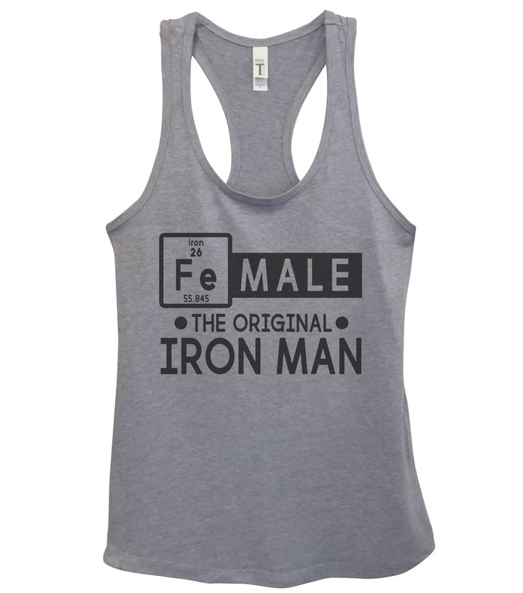 Female The Original Iron Man Womens Fashion Funny Tank Top