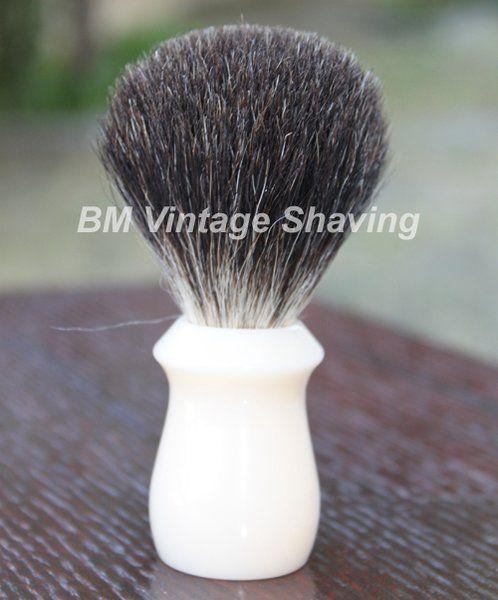 Best Badger Shaving Brush - Faux Ivory!  #BeechWoodBestBadgerShavingBrush #ShavingBrush
