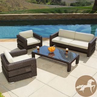 great modern outdoor furniture 15 home. Venice Outdoor Wicker Patio 8 Piece Sofa Set In Espresso With White Cushions - Modern Sofas By LexMod Great Furniture 15 Home O
