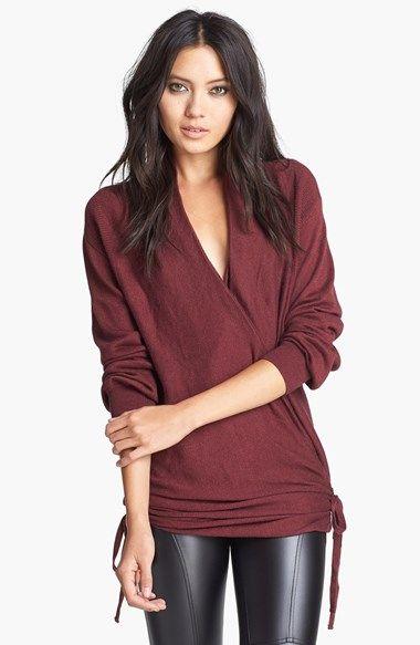 side wrap sweater