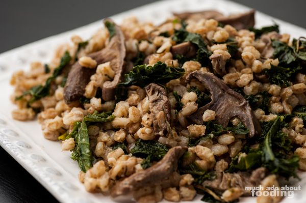 Farro with Shiitake Mushrooms and Kale