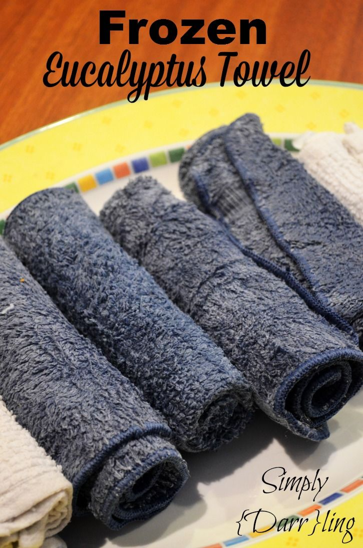 Eucalyptus towels are my favorite after a workout.  I want to make them at home for use after my daily practice.