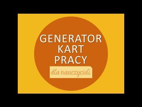 Generator Kart Pracy - YouTube