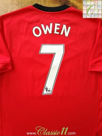 Official Nike Manchester United home football shirt from the 2009/2010 season. Complete with Owen #7 on the back of the shirt in Premier League lettering.