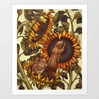 Art Print featuring Autumn by Kate O'Hara Illustration