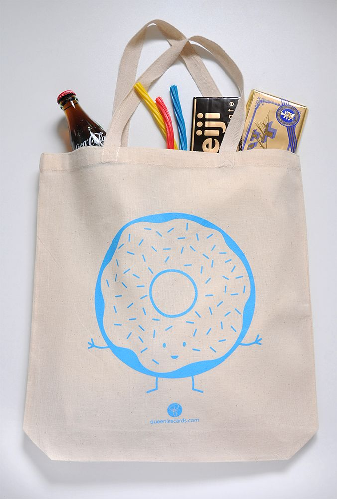 donut tote bag by queeniescards.com
