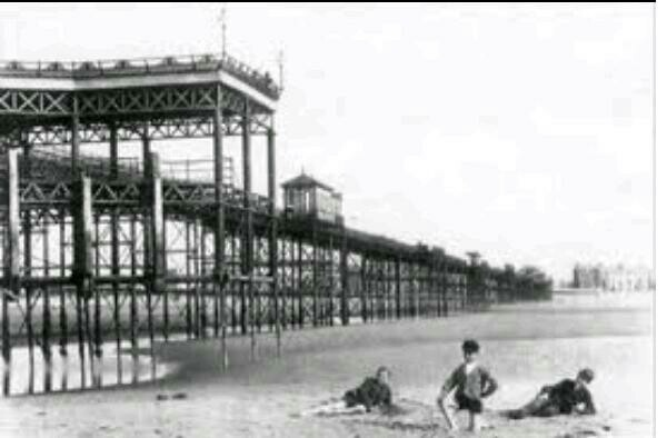 a Victorian pic of the pier in rhyl wales that is sadly no more