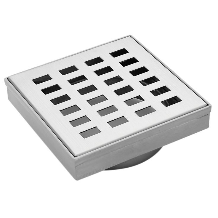 Find Mondella 100mm Stainless Steel Rococo Square Floor Grate at Bunnings…