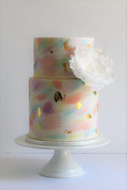 Water Colour Wedding Cake Perth