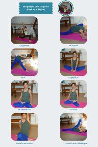 Description de 8 étirements tirés de postures de yoga pour acquérir le grand écart latéral rapidement ainsi qu'une bonne ouverture de hanche.