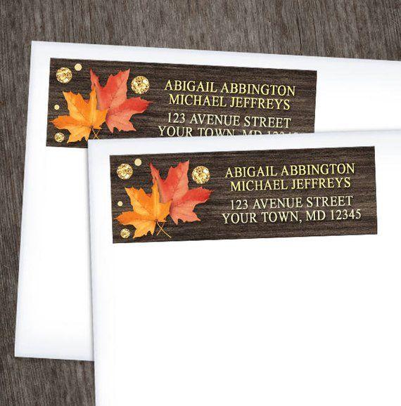 Fall Themed Return Address Labels LEAF