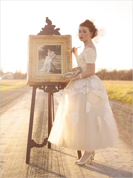 50's Renaissance wedding dress from Cease Fire Studios