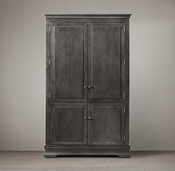 Restoration hardware zinc armoire furniture pinterest colors hardware and armoires for Master bedroom set with armoire