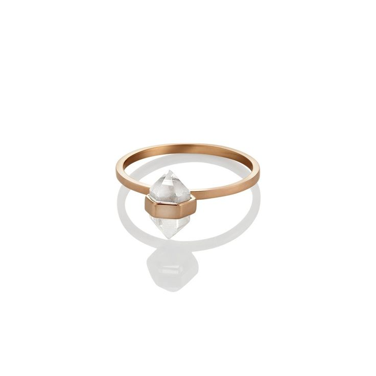 tiny calm crystal ring | clear quartz (PRE ORDER Silver + Rose Gold)