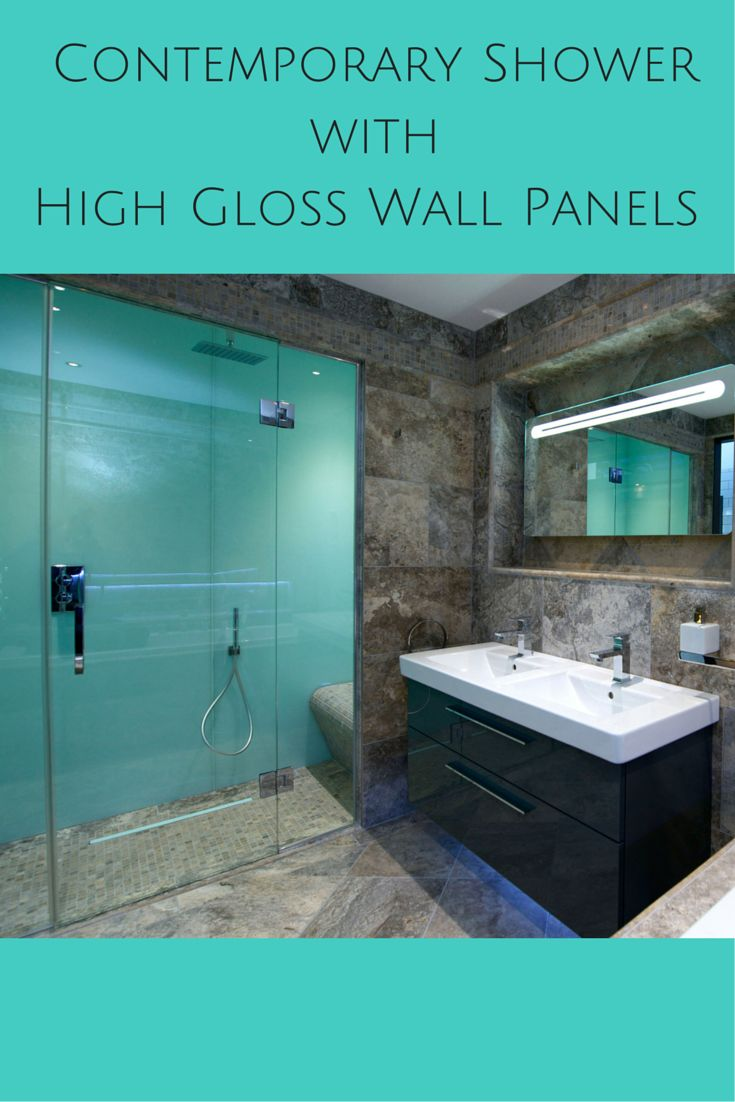 These high gloss shower wall panels  which look like back painted glass   provide a. 17 Best ideas about Shower Wall Panels on Pinterest   Shower walls