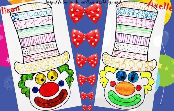 Graphisme sur chapeau de clown réalisé par Axelle et Lison